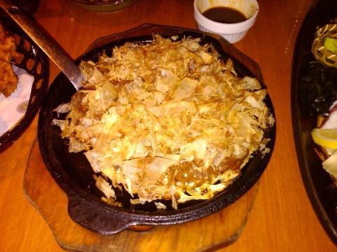 Day 14 japanese potato omelet with bonito shavings not good