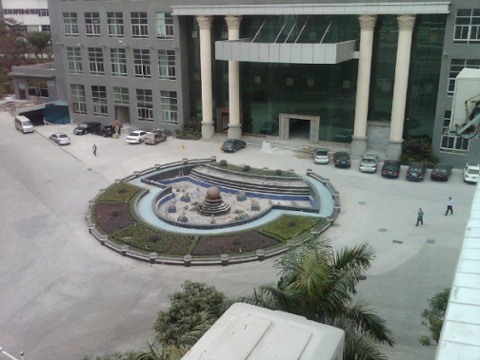 Day 17 view from our factory managers window every industrial park needs a decorative fountain