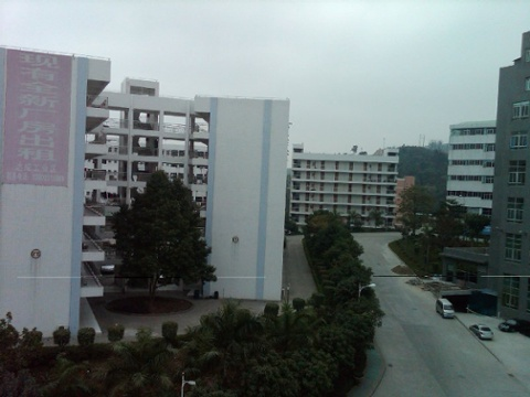 Day 17 view from our factory managers window industrial park dormatories