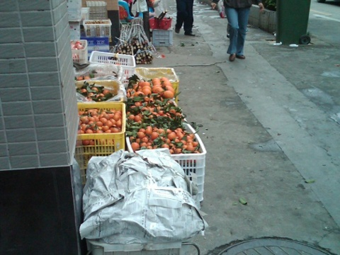 Day 19 fruit and sugar cane for sale on the street