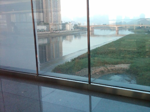 Day 26 the shenzhen river at the futian border crossing facing east