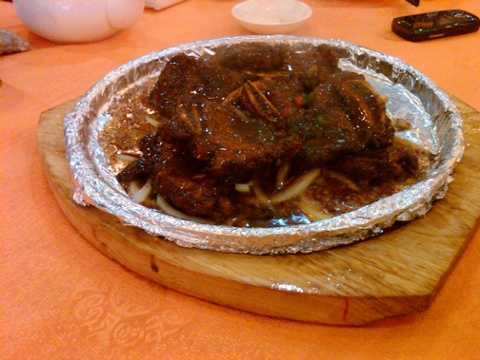 Day 35 sizzling black pepper steak