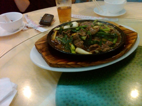 Day 36 last lunch very good sizzling beef dish