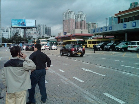 Day 37 huanggang when you are using a porsche cayenne for your border crossing van thats just showing off1