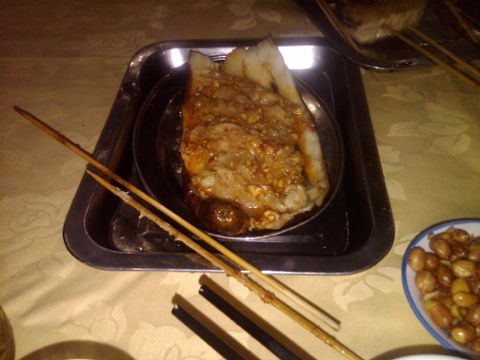 Dongbei style eggplant with garlic tastes like garlic flavored snot