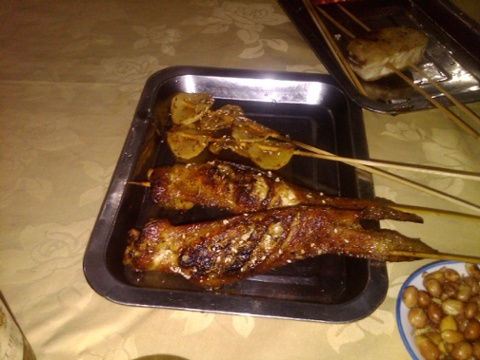 Dongbei style grilled chicken wings and potatoes
