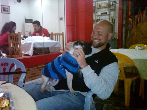 Mike bellamy and lazy what real man has a dog with a sweater