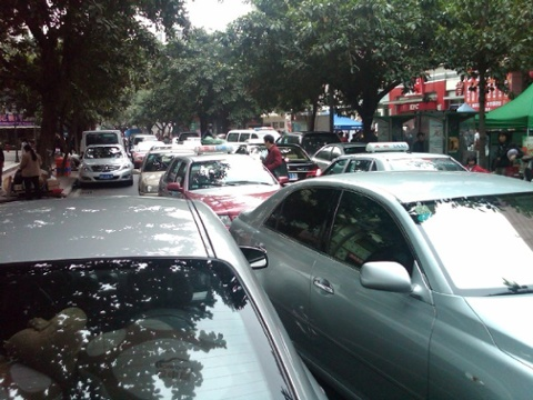 Typical traffic on liantang road
