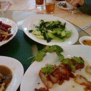 Day 15 fatty por and bok choy with garlic